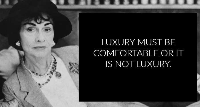 CHANEL LUXURY QUOTE